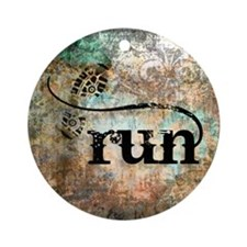 Run by Vetro Designs Round Ornament