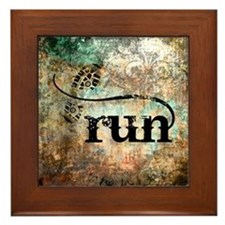 Run by Vetro Designs Framed Tile