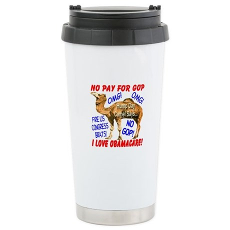 No Pay for GOP Stainless Steel Travel Mug