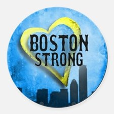 Boston Strong Round Car Magnet