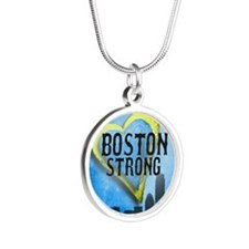 Boston Strong Silver Round Necklace