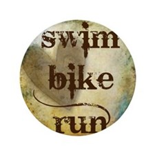 """Swim Bike Run by Vetro Designs 3.5"""" Button"""