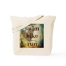Swim Bike Run by Vetro Designs Tote Bag
