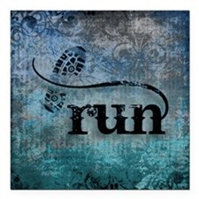 "Run by Vetro Designs Square Car Magnet 3"" x 3"""