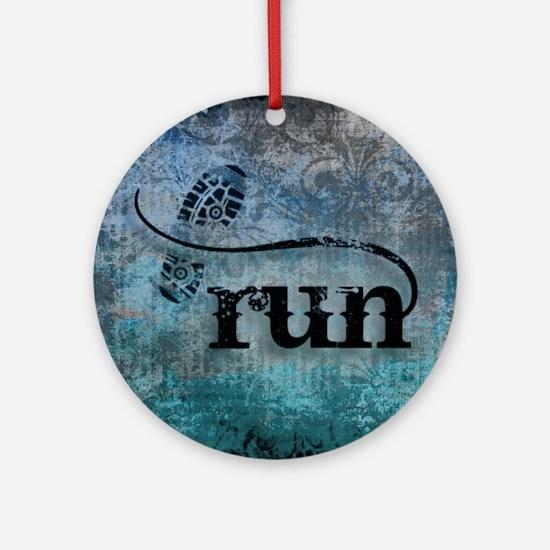 Run by Vetro Designs Round Ornament