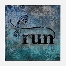 Run by Vetro Designs Tile Coaster