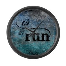 Run by Vetro Designs Large Wall Clock