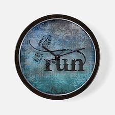 Run by Vetro Designs Wall Clock