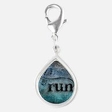 Run by Vetro Designs Silver Teardrop Charm
