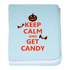 Keep Calm And Get Candy baby blanket