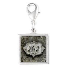 26.2 by Vetro Designs Silver Square Charm