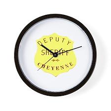 Cheyenne Sheriff Wall Clock