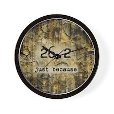 26.2 by Vetro Designs Wall Clock