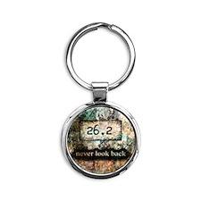 26.2 by Vetro Designs Round Keychain