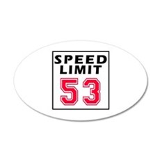 Speed Limit 53 Wall Decal
