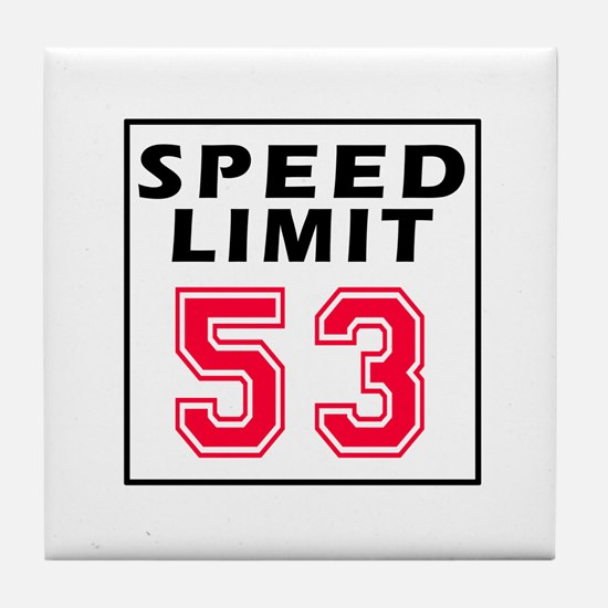 Speed Limit 53 Tile Coaster
