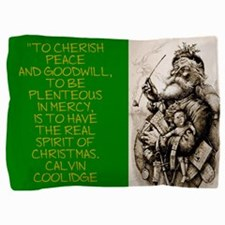 To Cherish Peace And Goodwill - Coolidge Pillow Sh