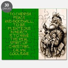 To Cherish Peace And Goodwill - Coolidge Puzzle