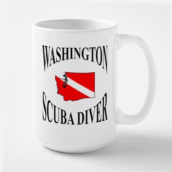 Washington Scuba Diver Mugs