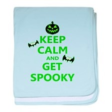Keep Calm and Get Spooky baby blanket