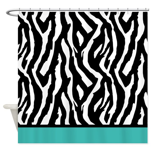 Turquoise Zebra Shower Curtain By InspirationzStore