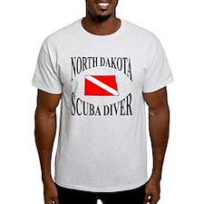 North Dakota Scuba Diver T-Shirt