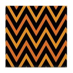 Chevron Halloween Orange and Black Zigzag Tile Coa