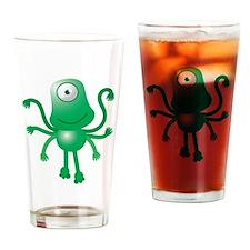 Cute Six armed ALIEN Drinking Glass
