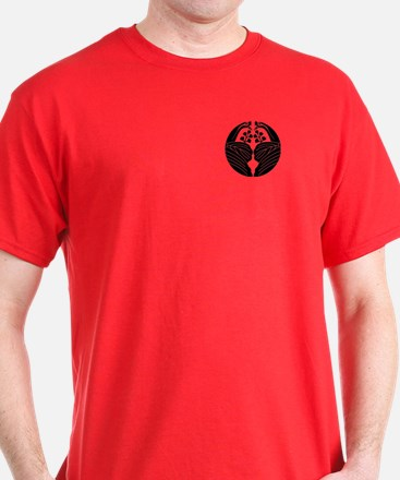 Bisected crane-shaped paulownias T-Shirt