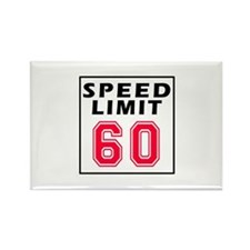 Speed Limit 60 Rectangle Magnet
