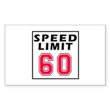 Speed Limit 60 Decal
