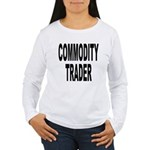 Stock Trader (Front) Women's Long Sleeve T-Shirt