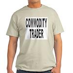 Stock Trader (Front) Ash Grey T-Shirt
