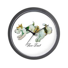 Fox Trot Terriers Wall Clock
