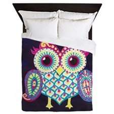 Midnight Owl Queen Duvet