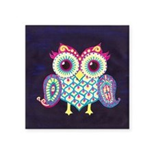 "Midnight Owl Square Sticker 3"" x 3"""