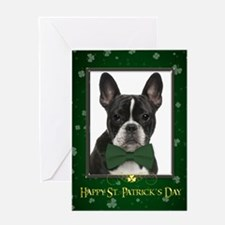 Frenchie St. Patrick's Day Card