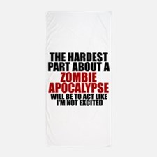 Exciting zombie apocalypse Beach Towel