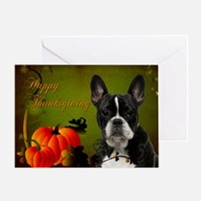 Frenchie Thanksgiving Card