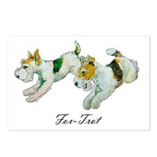 Fox Trot Terriers Postcards (Package of 8)