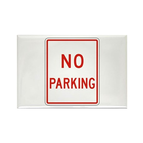 No Parking 2 - USA Rectangle Magnet