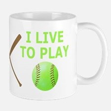 Softball Player Mugs