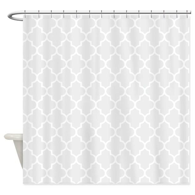 Light Grey Quatrefoil Shower Curtain By Inspirationzstore