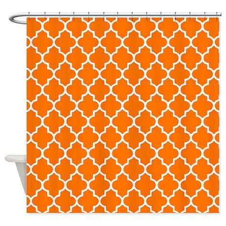 orange quatrefoil shower curtain by inspirationzstore