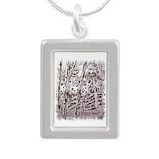 Appaloosa In Trees Silver Portrait Necklace
