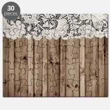 barnwood white lace country Puzzle
