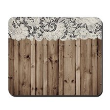 barnwood white lace country Mousepad