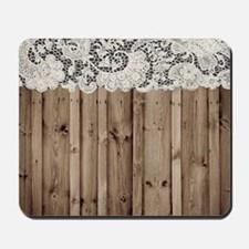 barnwood white lace country Mousepad
