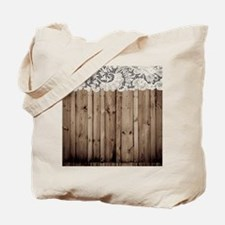 barnwood white lace country Tote Bag