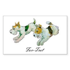 Fox Trot Terriers Rectangle Decal